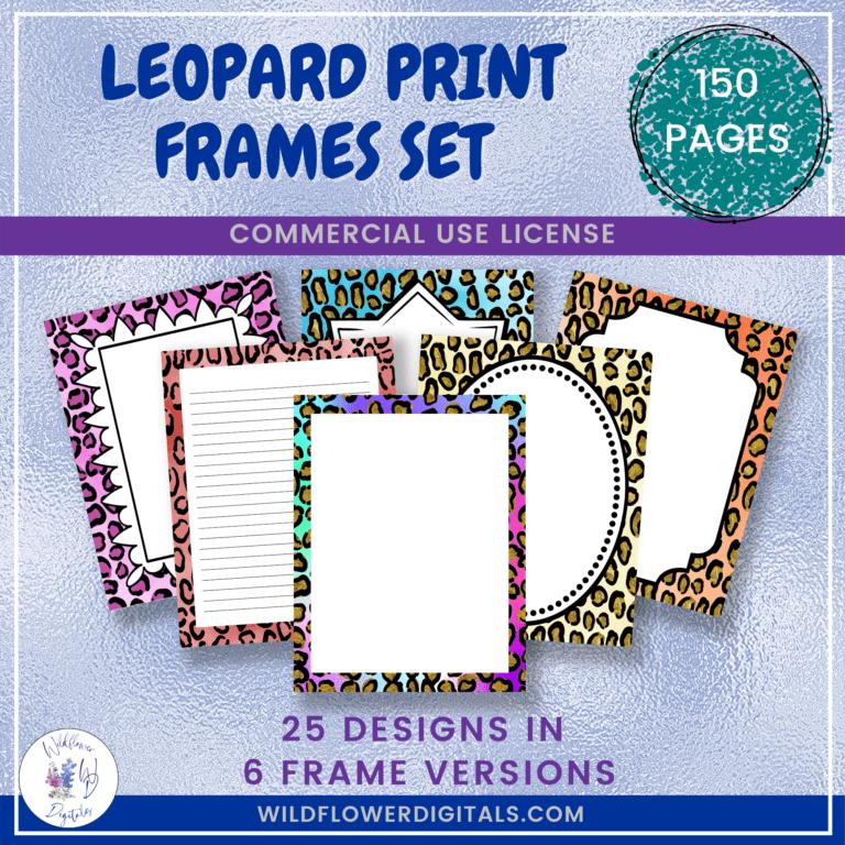 Leopard Print Frames Set