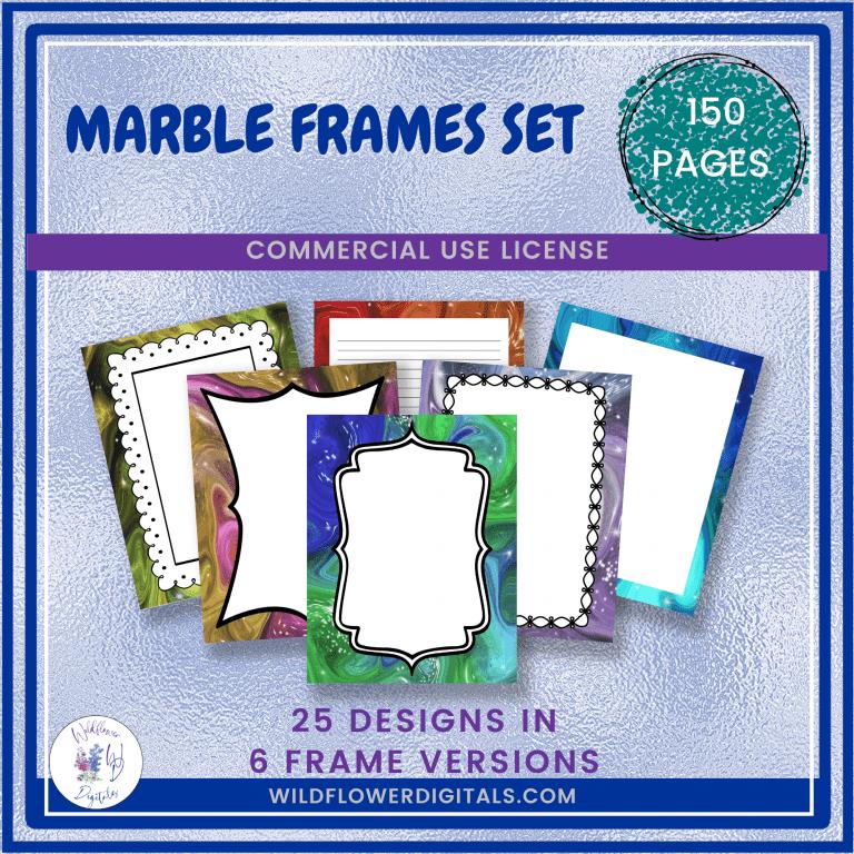 Marble Frames Set