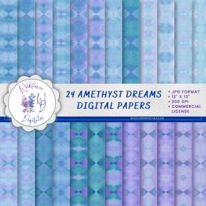 Amethyst Dreams Digital Papers