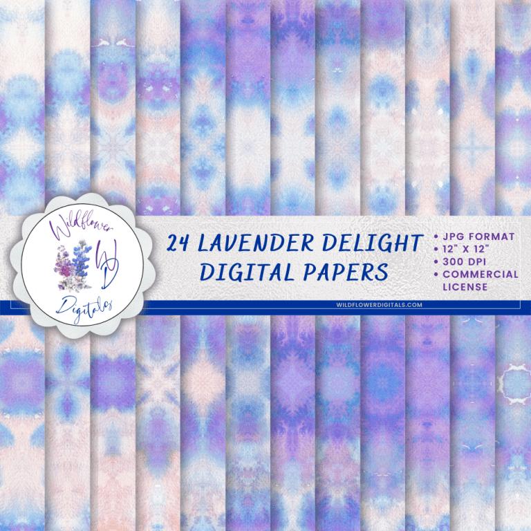 Lavender Delight Digital Papers