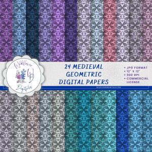 Medieval Geometric Digital Papers