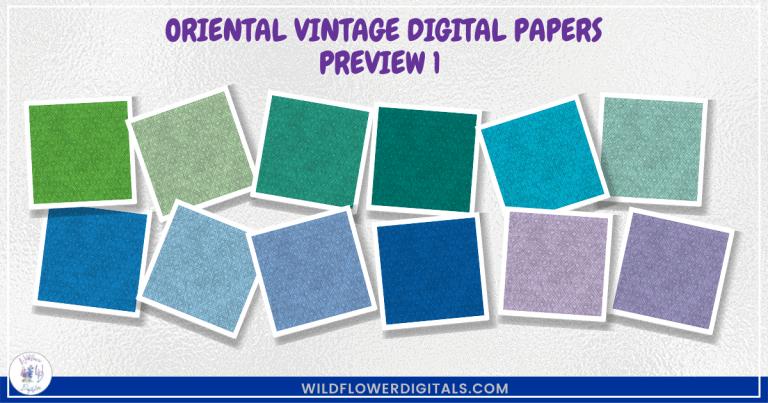 Oriental Vintage Digital Papers