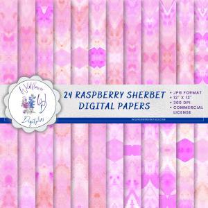Raspberry Sherbet Digital Papers