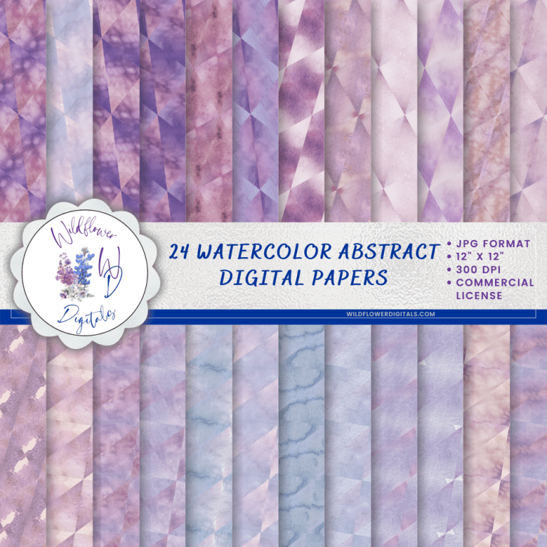 Watercolor Abstract Digital Papers