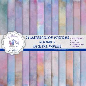 Watercolor Visions Vol 1 Digital Papers